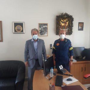 Επίσκεψη Γ. Αμανατίδη στην Περιφερειακή Διοίκηση Πυροσβεστικών Υπηρεσιών Δυτ. Μακεδονίας