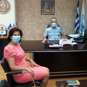 Εθιμοτυπική επίσκεψη της Βουλευτή Π.Ε. Κοζάνης Παρασκευής  Βρυζίδου στο Αστυνομικό Μέγαρο Κοζάνης