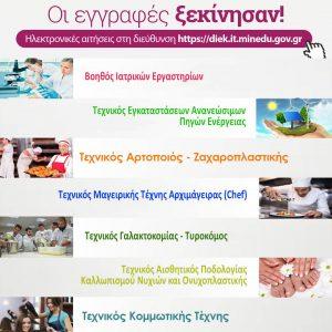 ΔΙΕΚ Κοζάνης: Έναρξη εγγραφών στις νέες ειδικότητες για το Α' εξάμηνο