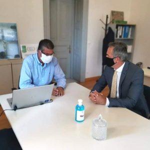 Συνάντηση συνεργασίας του βουλευτή ΠΕ Κοζάνης Στάθη Κωνσταντινίδη με τον πρόεδρο του Πράσινου Ταμείου, κ. Στάθη Σταθόπουλο.