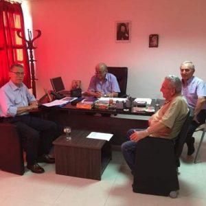 Συνάντηση του Δημάρχου Λάζαρου Μαλούτα με το Δ.Σ. της Ευξείνου Λέσχης Κοζάνης