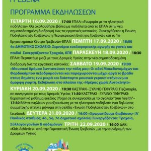 Δήμος Γρεβενών: Το αναλυτικό πρόγραμμα των δράσεων για την «Ευρωπαϊκή Εβδομάδα Κινητικότητας 2020»