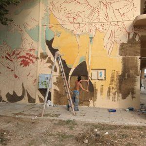 """kozan.gr: Κοζάνη: Ομορφαίνει ο τοίχος στο πρώην κτήριο του ΟΣΕ, στα νέα γραφεία του συλλόγου εθελοντών αιμοδοτών αιμοπεταλιοδοτών Κοζάνης """"Σταγόνα Ελπίδας"""" (Φωτογραφίες)"""