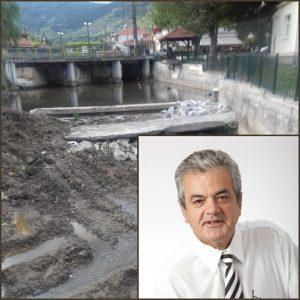 Εργασίες διευθέτησης κοίτης ποταμού Τ.Κ. Μηλοχωρίου