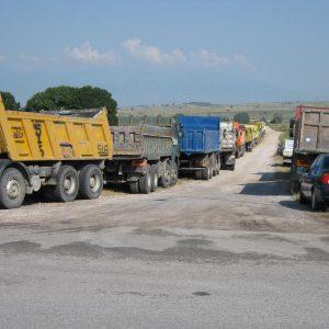 Πορεία διαμαρτυρίας,  για την πρόωρη απολιγνιτοποίηση, από ιδιοκτήτες φορτηγών δημοσίας χρήσης, περιοχής Ελλησπόντου, την Πέμπτη 24/9