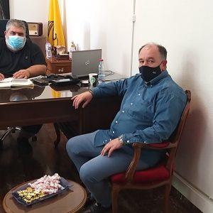 Με το Δήμαρχο Π. Πλακεντά συναντήθηκε, σήμερα Τρίτη 29/9, ο Διοικητής του Μποδοσάκειου Σ. Παπασωτηρίου (Φωτογραφία)