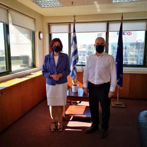 Το Υπουργείο Περιβάλλοντος και Ενέργειας (ΥΠΕΝ) επισκέφθηκε, τηνΤρίτη 29/9, η Βουλευτής Π.Ε. Κοζάνης Παρασκευή Βρυζίδου