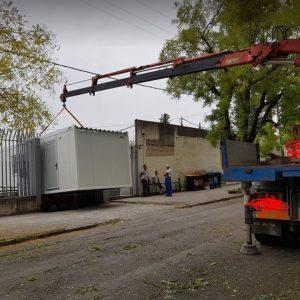 "kozan.gr: ""Εφτασαν"" τα δύο Container, 45 τ.μ. περίπου, που θα χρησιμοποιηθούν ως αποδυτήρια, για τις ανάγκες του γηπέδου στο ΔΑΚ Κοζάνης  (Φωτογραφίες)"