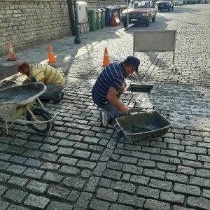 Εργασίες συντήρησης του πλακοστρωτου δρόμου και ανάπλασης της παιδικής χαράς στον Πεντάλοφο