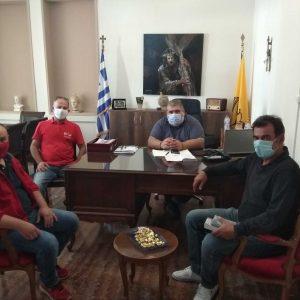 """Μέλη του αιμοδοτικου συλλόγου  """"Σταγόνα Ελπίδας"""" συναντήθηκαν με το δήμαρχο Εορδαίας Παναγιώτη Πλακεντα"""