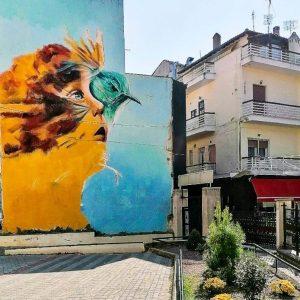 Άρχισε να παίρνει μορφή η παρέμβαση του Δήμου Κοζάνης στις τυφλές όψεις οικοδομών