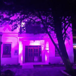 kozan.gr: Φωταγωγήθηκε, σε ροζ απόχρωση, το κτήριο της Δημοτικής Βιβλιοθήκης Πτολεμαΐδας,  στο πλαίσιο της Παγκόσμιας Ημέρας κατά του Καρκίνου του Μαστού (Φωτογραφίες & Βίντεο)