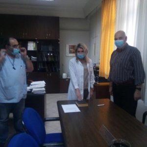 Ορκωμοσία της ιατρού Χρυσούλας Μελέτη, για το Μικροβιολογικό τμήμα του Μαμάτσειου Νοσοκομείου Κοζάνης