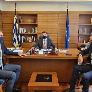 Επίσκεψη του Βουλευτή Π.Ε Κοζάνης Στάθη Κωνσταντινίδη στον Υφυπουργό Αγροτικής Ανάπτυξης και Τροφίμων Κώστα Σκρέκα