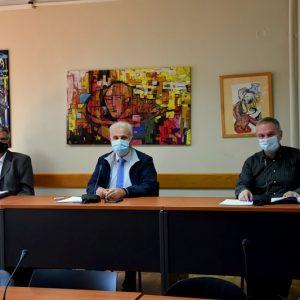 Συνέντευξη Τύπου για την Πορεία των Έργων στις Υποδομές της Τριτοβάθμιας Εκπαίδευσης στην Πόλη της Φλώρινας Παραχώρησε η Π.Ε. Φλώρινας και ο Εκπρόσωπος του Πανεπιστημίου Δυτικής Μακεδονίας