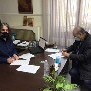 Υπογραφή Σύμβασης για την «Αντιπλημμυρική Προστασία Της Βόρειας Ζώνης Οικισμού Σερβιων»