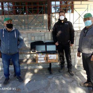 8 φορητοί υπολογιστές σε μαθητές της κοινότητας Πολυμύλου Κοζάνης από την εταιρεία «Enel Green Power»