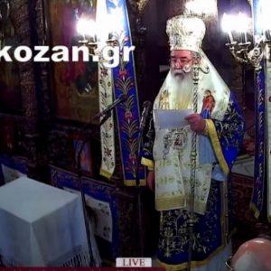 """kozan.gr: Τα αισιόδοξα νέα, για τον πατ. Νικόλαο Τζέλλο της Αγ. Παρασκευής, εκ στόματος Μητροπολίτη Σερβίων & Κοζάνης κ.κ. Παύλου: """"Αποσωληνώθηκε και πολύ σύντομα, θέλω να πιστεύω, ότι θα τον έχουμε μαζί μας"""" – Τα λόγια «Να οργίζεσθε, αλλά να μην αμαρτάνετε», που χρησιμοποίησε ο Μητροπολίτης, προφανώς, για αιτιολογήσει και τη δική του στάση, στα προηγούμενα, κηρύγματά του: """"Όταν ο άνθρωπος ειναι πνευματικός, δεν αναστατώνεται, η καρδιά του, από κακία"""", επεξήγησε (Βίντεο)"""