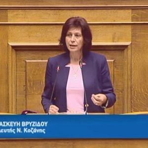 """Π. Βρυζίδου: Ομιλία στην ολομέλεια για το νομοσχέδιο για θέματα αναδιοργάνωσης του Υπουργείου Πολιτισμού και Αθλητισμού: """"Mέσα από την ανάδειξη του ελληνικού πολιτισμού, ενισχύεται η αναγνώριση και η αξία της χώρας μας"""""""