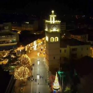 kozan.gr: Όμορφο, βίντεο, με εικόνες drone, από την Χριστουγεννιάτικα, στολισμένη, Κοζάνη