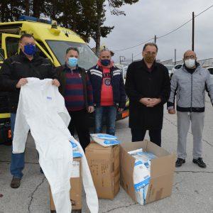 Παράδοση στολών προστασίας στο προσωπικό του ΕΚΑΒ από το Επιμελητήριο Φλώρινας