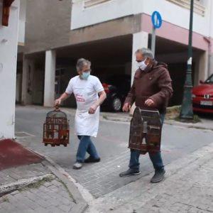 kozan.gr: Ο γνωστός φούρναρης  της Κοζάνης Γ. Σιδέρης βρήκε τη λύση για όσους επιθυμούν να βγουν έξω και δεν έχουν σκύλο αλλά διαθέτουν πουλιά  (Βίντεο)