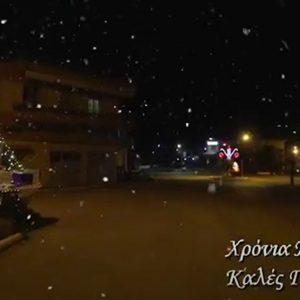 """kozan.gr: """"Ζωγράφισαν"""" και φέτος στην Κοινότητα Πετρανών με τον όμορφο Χριστουγεννιάτικο στολισμό (Βίντεο)"""