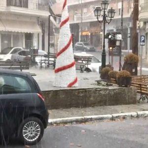 kozan.gr: Aσθενής χαλαζόπτωση στην πόλη της Σιάτιστας, σήμερα Κυριακή 27/12 (Βίντεο)
