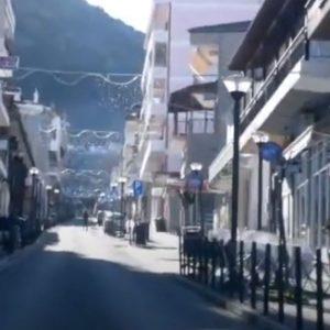 """Σημερινές πρωτοχρονιατικές εικόνες από την """"κίνηση"""" στα Σέρβια (Βίντεο)"""