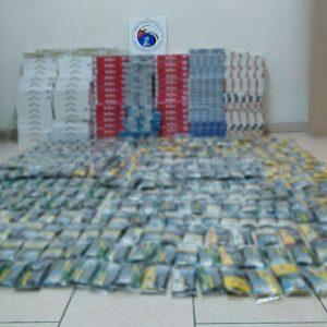 Πτολεμαΐδα: Κατασχέθηκαν συνολικά 4.407 αφορολόγητα πακέτα τσιγάρων και 24 κιλά και 450 γραμμάρια λαθραίου καπνού – Συνελήφθησαν δύο άτομα