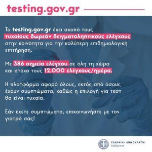 Δήμος Γρεβενών: Δωρεάν έλεγχος Covid-19 από τον ΕΟΔΥ μέσω του testing.gov.gr