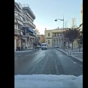 kozan.gr: Ώρα 08:40 π.μ.: Βίντεο από τους κεντρικούς δρόμους της Κοζάνης