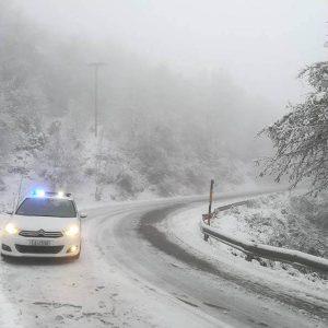Ώρα 11:30: H κατάσταση στο οδικό δίκτυο της Περιφέρειας Δυτικής Μακεδονίας ανά Διεύθυνση Αστυνομίας