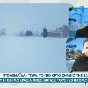 "O προγνώστης καιρού Γιώργος Βασιλειάδης, από την Πτολεμαίδα, στη ""Φωλιά των ΚούΚου"" – Τετάρτη 20.01.2021 (Bίντεο)"