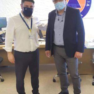 Την Γ.Γ. Πολιτικής Προστασίας επισκέφτηκε ο Δήμαρχος Βοΐου Χ. Ζευκλής