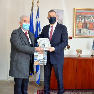 Συνάντηση του Αντιπεριφερειάρχη Φλώρινας με τον Υφυπουργό Εθνικής Αμύνης Αλκιβιάδη Στεφανή