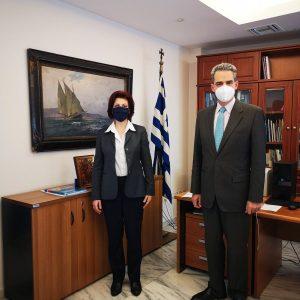 Συνάντηση Π. Βρυζίδου με τον Υφυπουργό Παιδείας   Α. Συρίγο