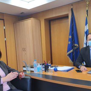 Στον Υφυπουργό Ψηφιακής Διακυβέρνησης Γιώργο Στύλιο  η Βουλευτής Π.Ε. Κοζάνης Παρασκευή Βρυζίδου