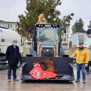 Προμήθεια νέων μηχανημάτων έργου στο Δήμο Εορδαίας (Φωτογραφίες)
