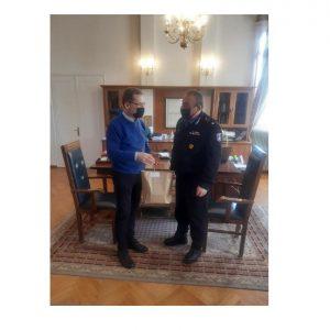 Εθιμοτυπική επίσκεψη γνωριμίας πραγματοποίησε σήμερα 16-02-2021 στον Δήμαρχο Κοζάνης κ. Λάζαρο Μαλούτα, ο Διοικητής της Περιφερειακής Πυροσβεστικής Διοίκησης Δυτικής Μακεδονίας, Αρχιπύραρχος Σωτήριος Κορέλας