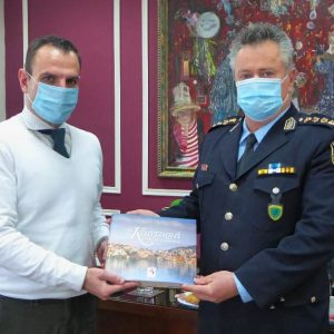 Τον νέο Αστυνομικό Διευθυντή της Διεύθυνσης Αστυνομίας Καστοριάς, Θωμά Ζήκα, υποδέχθηκε σήμερα στο Δημαρχείο ο Δήμαρχος Καστοριάς Γιάννης Κορεντσίδης