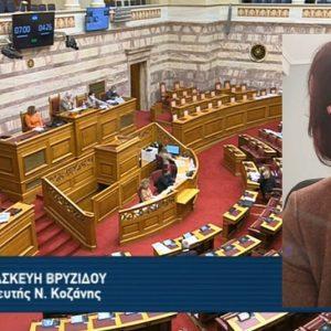 Ομιλία της Παρασκευής Βρυζίδου στην Ολομέλεια της Βουλής στη συζήτηση του νομοσχεδίου για τα Οπτικοακουστικά Μέσα Ενημέρωσης (Βίντεο)