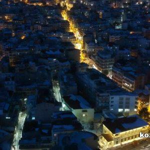 kozan.gr: Κοζάνη, με χιόνια, από ψηλά, τη νύχτα (12 Φωτογραφίες)