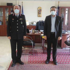 Εθιμοτυπική επίσκεψη πραγματοποίησε σήμερα (23-02-2021) στον Περιφερειάρχη Δυτικής Μακεδονίας Γεώργιο Κασαπίδη ο Γενικός Περιφερειακός Αστυνομικός Διευθυντής Δυτικής Μακεδονίας, Ταξίαρχος κ. Θωμάς Νέστορας