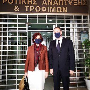 Τον Υπουργό και Υφυπουργό Αγροτικής Ανάπτυξης Σπήλιο Λιβανό καιΓιάννη Οικονόμου συνάντησε η Βουλευτής Π.Ε. Κοζάνης Παρασκευή Βρυζίδου