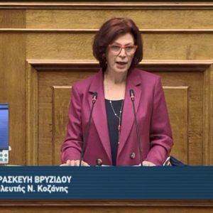 Παρουσία της Α.Ε. της Προέδρου της Δημοκρατίας κυρίας Κ. Σακελλαροπούλου η ομιλία της Π. Βρυζίδου Βουλευτή Κοζάνης για την Παγκόσμια ημέρα της Γυναίκας
