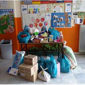 Oι μαθητές/μαθήτριες του Δ.Σ.Περιοχής Βαθυλάκκου συγκέντρωσαν είδη πρώτης ανάγκης προκειμένου να ενισχυθούν οι κάτοικοι του Δήμου Ελασσόνας