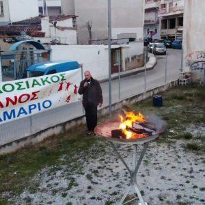 """kozan.gr: Άναψε, για λίγα λεπτά και μ' ένα άτομο, έτσι για το καλό και την τήρηση του εθίμου, ο Φανός Κεραμαριό – """"Εβγάτε αγόρια στο Φανό"""" (Βίντεο)"""