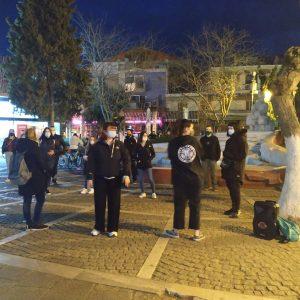 Kινητοποίηση με πρωτοβουλία της επιτροπής φοιτητών Πτολεμαΐδας πραγματοποιήθηκε το βράδυ της Κυριακής 14/3 (Φωτογραφίες)