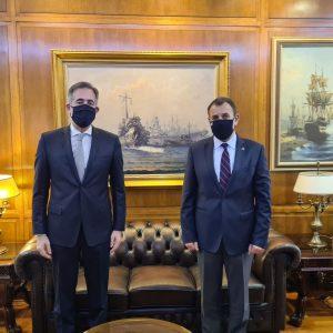 Συνάντηση συνεργασίας του Βουλευτή της Π.Ε. Κοζάνης Στάθη Κωνσταντινίδη με τον Υπουργό Εθνικής Άμυνας,Νίκο Παναγιωτόπουλο